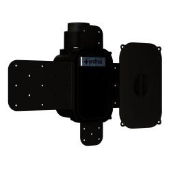 Montagegehäuse SLS schwarz, inkl. Putzdeckel