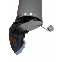 Auswurfklappe Ø 300 mm, Chromstahl