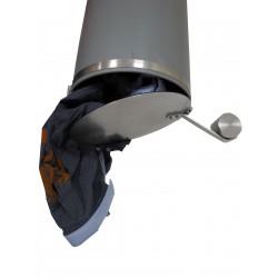 Auswurfklappe Ø 250 mm, Chromstahl