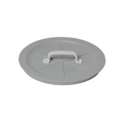 Einwurfdeckel rund mit Griff, grau