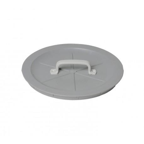 Einwurfdeckel mit Griff, grau Ø 315 mm