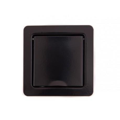 Wand- und Bodensteckdose, schwarz