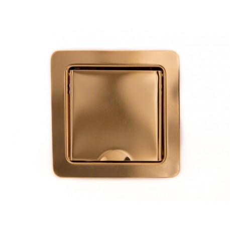 Wand- und Bodensteckdose, gold